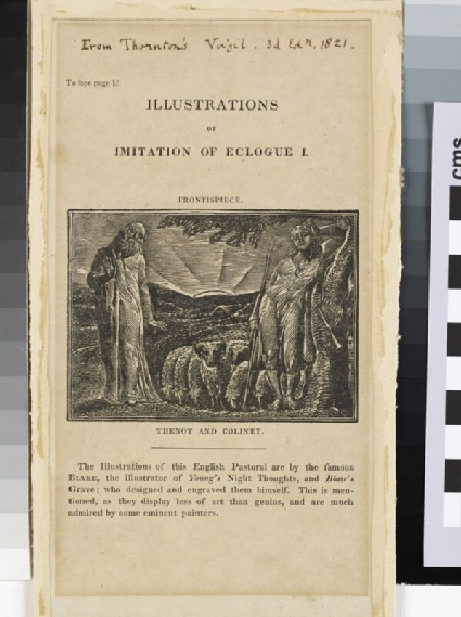 Illustrations of Imitation of Eclogue I: frontispiece: Thenot and Colinet