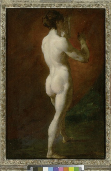 Standing female Nude seen from behind