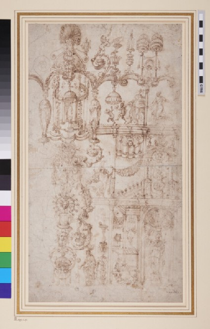 A panel with grotesque decoration
