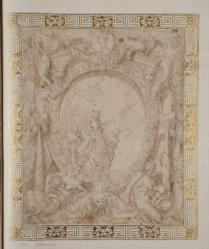 Design for a wall decoration with the Abduction of Europa