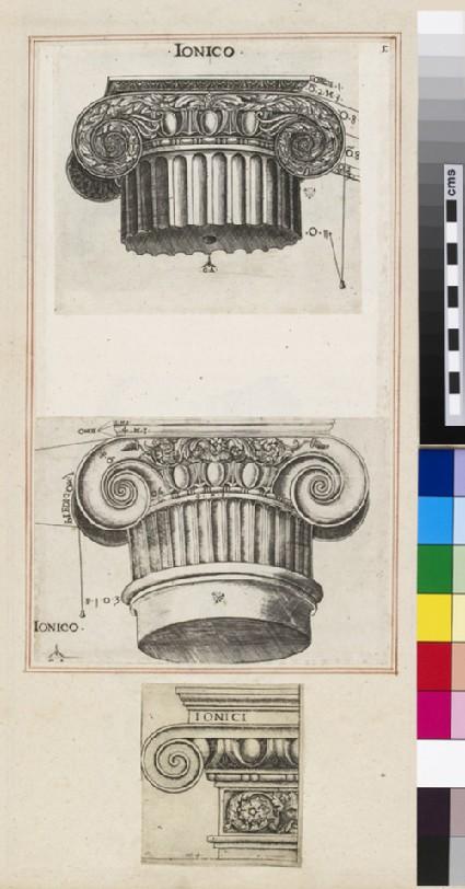 A Doric capital and its entablature