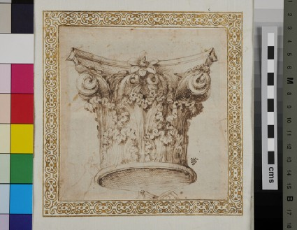 Recto: A Corinthian capital 