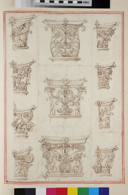 Eleven capitals of the Corinthian and Composite orders