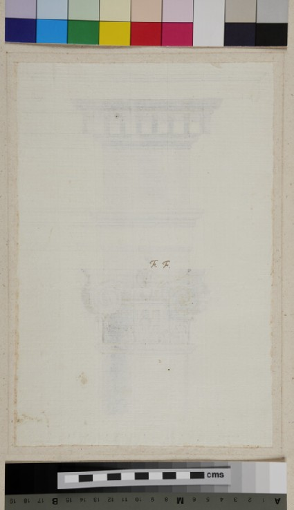 A Ionic capital and entablature