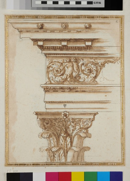 A Corinthian capital with its entablature