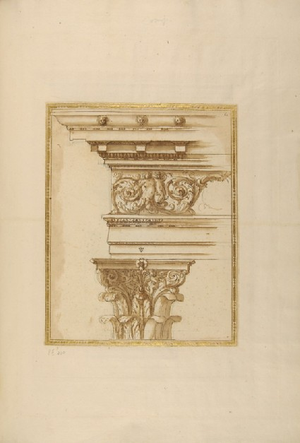 A Composite capital with entablature