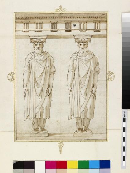 A pair of Doric telamons