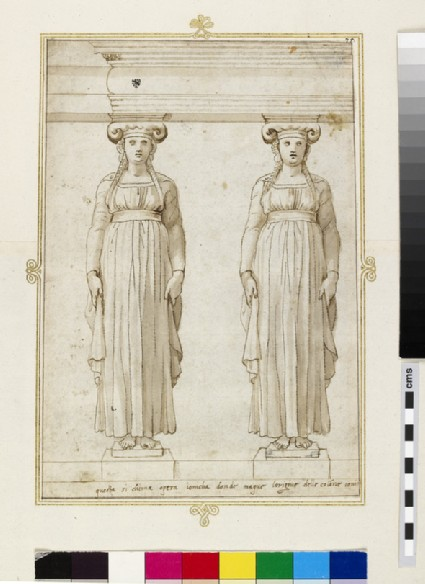 A pair of Ionic caryatids