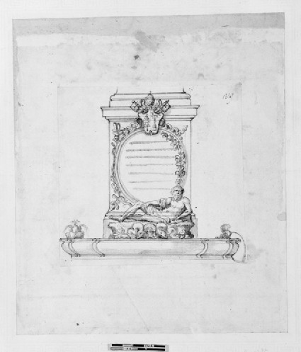 Prospect of the pedestal for the statue of Andrea Doria as a Neptune