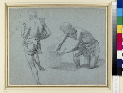 Two Studies of male Figures