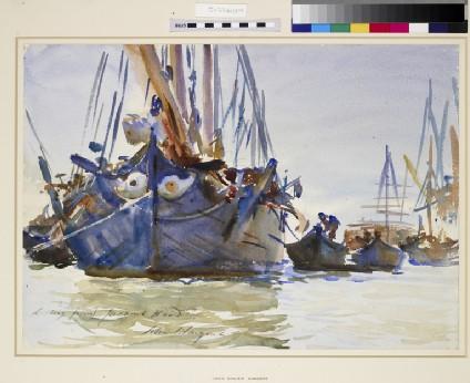 Italian Sailing Vessels at Anchor
