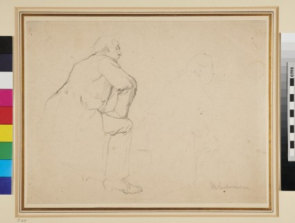 Recto: Two Studies of a Man wearing a Frock Coat <br />Verso: Two further Studies of the same Model