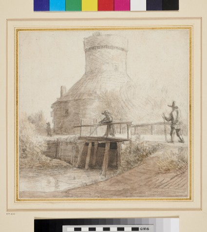 Recto: View of an Oast House 