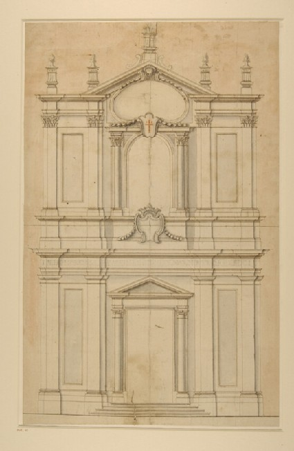 Design for the facade of SS Faustina e Giovita