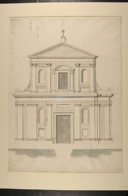 Facade of the church of Santa Maria Liberatrice, Rome