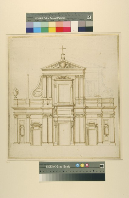 Design for a facade of a church