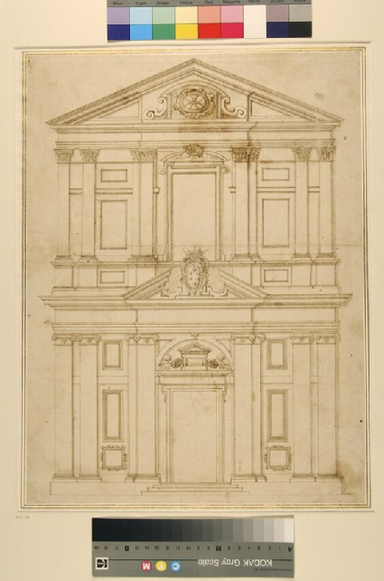 Elevation of the facade of the church of St Stefano dei Cavalieri, Pisa