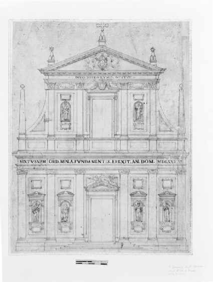 Project for the façade of San Girolamo degli Schiavoni or degli Illirici, Rome