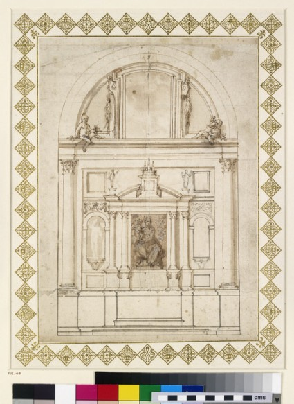 Design for an elevation of the back wall of the Chapel of the Dukes of Urbino in the Basilica of the Holy Family, Loreto