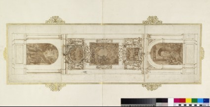 Design of for the walls and barrel vault of the Chapel of the Dukes of Urbino in the Basilica of the Holy Family, Loreto