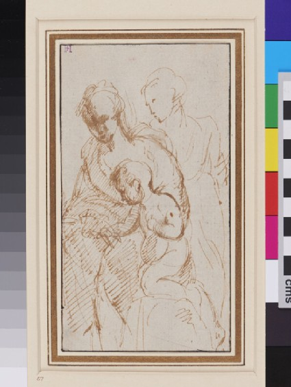 Study for a Mystic Marriage of St Catherine