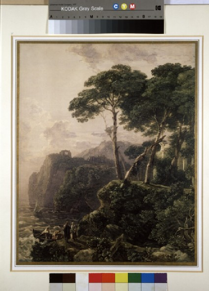 Classical Landscape with Sea and Figures
