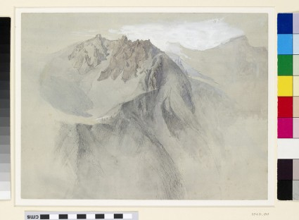 Mountain study: view of the Alps (Aiguilles near Chamonix)