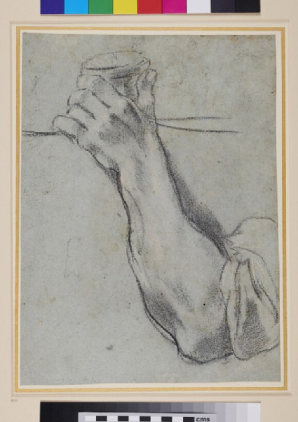 Recto: Study of an Arm<br />Verso: Study of a standing Figure