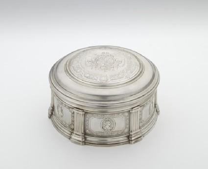 Powder box, one of a pair