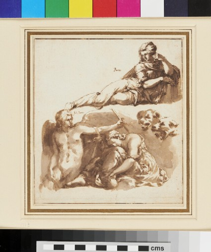 Sheet of Studies, after Giulio Romano and Bandinelli