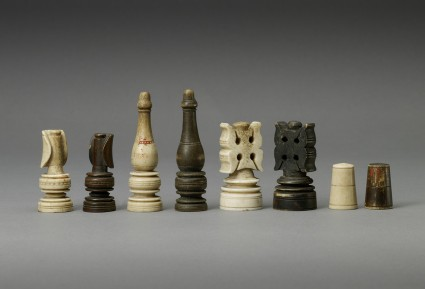 Chess pieces, eight pawns