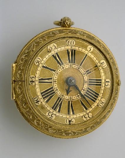 Gold cased verge watch with Barrow regulator