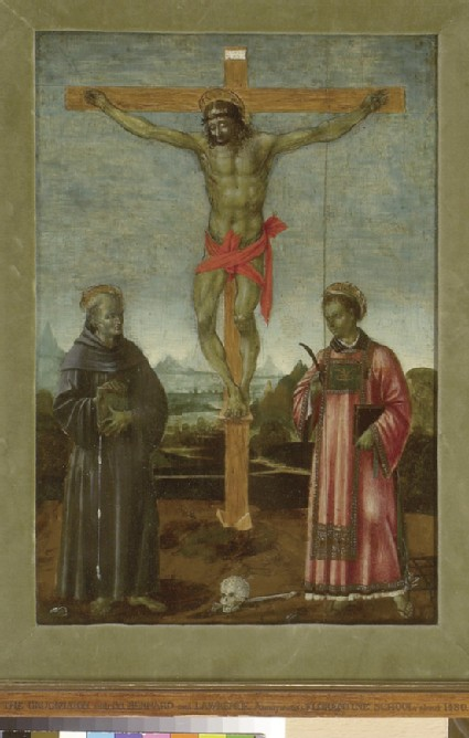 The Crucifixion with Sts Bernardino of Siena and Lawrence