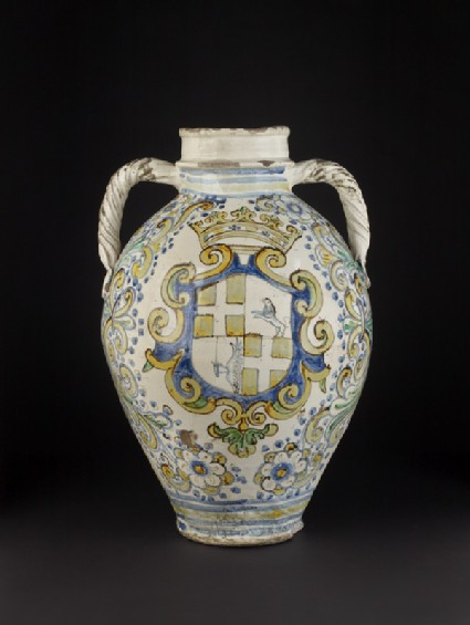 Pharmacy jar from the Holy Infirmary of the Knights of St John, Valletta, Malta