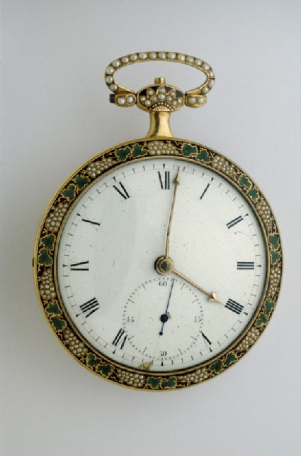 Gold and enamel cased duplex watch for the Chinese market