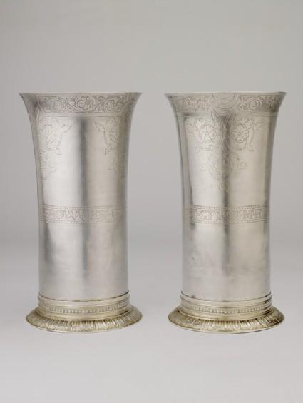 Beaker, one of a pair