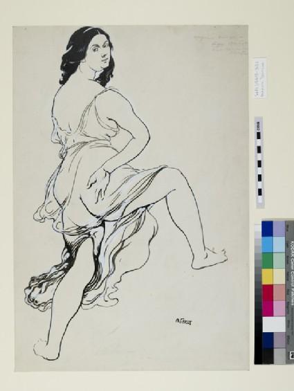 Portrait of Isadora Duncan dancing