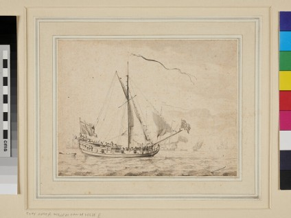 An English royal Yacht before a light Breeze