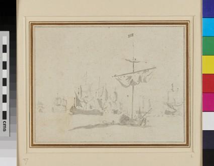 An Advice Yacht with a Council-of-war in the Dutch Fleet