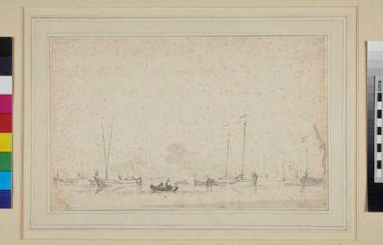 Dutch fishing Boats near the Shore