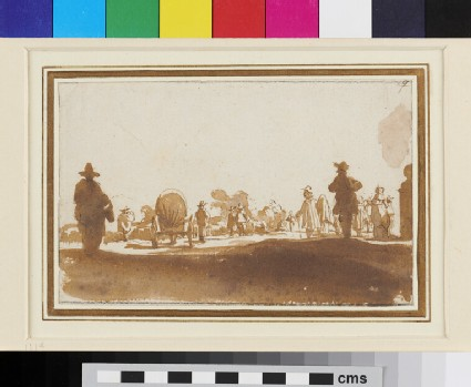 Recto: Road with Passengers <br />Verso: Architectural Studies
