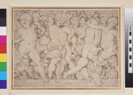 A Frieze of Putti struggling with Serpents