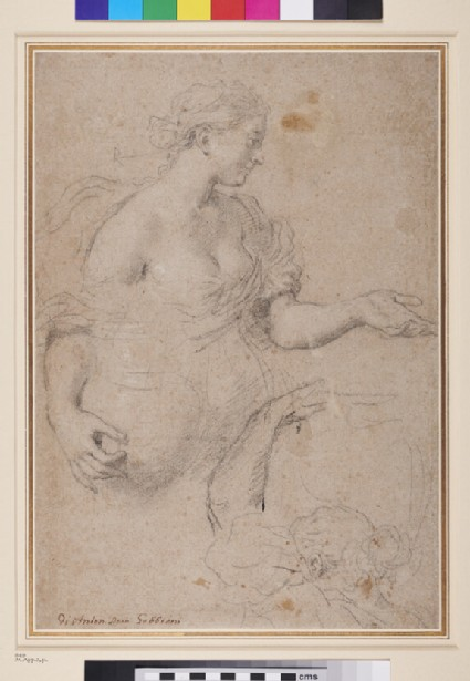 Two Studies of a young Woman carrying a Pitcher