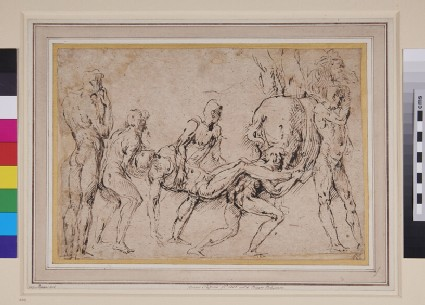 Composition of six nude Men