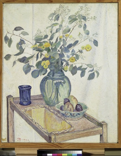 Still Life: Eucalyptus and Chrysanthemums