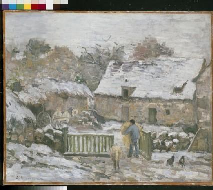 Farm at Montfoucault in snow