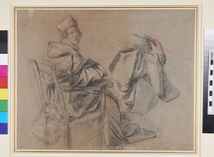 Study of a Cardinal, seated