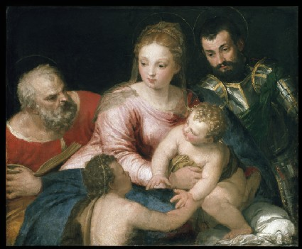 The Holy Family with the young St John the Baptist and St George