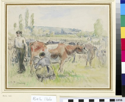 Compositional Study of a Milking Scene at Eragny-sur-Epte