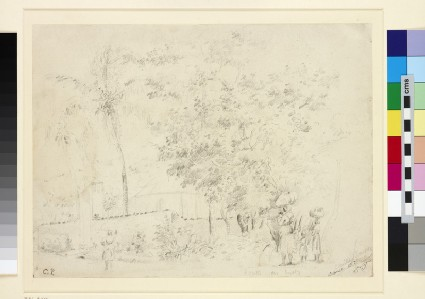 Recto: Route de Bussy<br />Verso: Studies of Sheep grazing in a Landscape